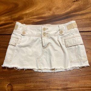 Abercrombie & Fitch Khaki Beige Cargo Mini Skirt 4